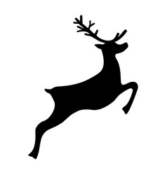 reindeer running isolated on white vector image
