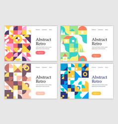 retro abstract geometric design templates vector image