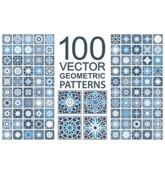 set geometric patterns vector image