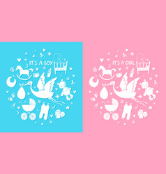set hand drawn elements bastuff cute icons vector image