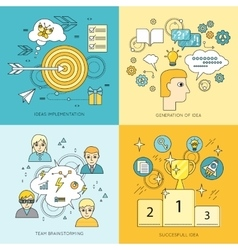 Set of Creating Ideas Concept vector