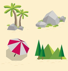 Set of landscapes vector