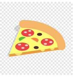 Slice pizza isometric icon vector