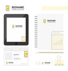 smartphone business logo tab app diary pvc vector image