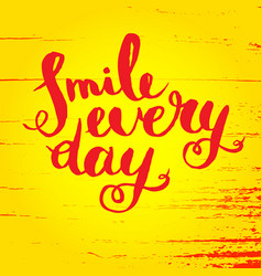 Smile every day inspirational quote poster vector