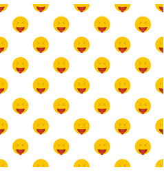 smile pattern seamless vector image