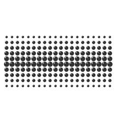 Sphere shape halftone array vector