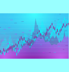 stock market and exchange candle stick graph vector image