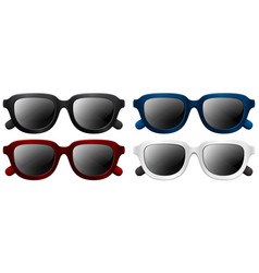 sunglasses with different frame colors vector image