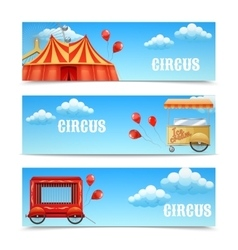 Three horizontal circus banners vector image
