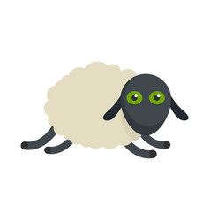 Tired sheep icon flat style vector