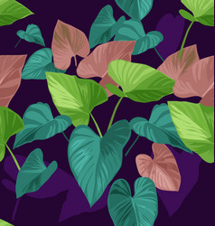 Tropical plant pattern vector