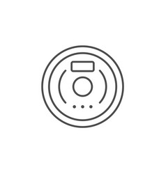 vacuum cleaner robot line outline icon vector image