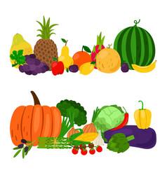 vegetables fruits set vector image