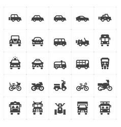 vehicle and transport filled icon vector image