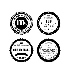 Vintage badges 4 vector image