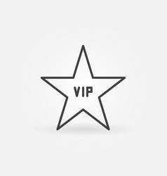 vip star concept icon in thin line style vector image