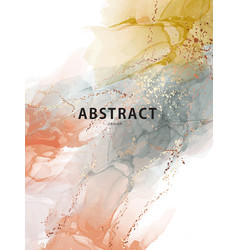 watercolor abstract orange yellow texture yellow vector image