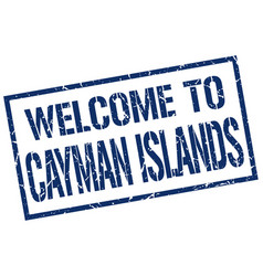 Welcome to cayman islands stamp vector