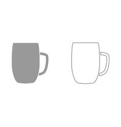 beer mug it is black icon vector image