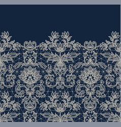 blue lace border background vector image vector image