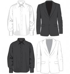 coats and shirts vector image vector image