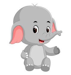 funny baby elephant cartoon vector image