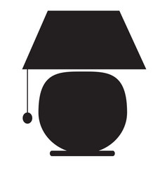 lamp icon on white background lamp icon sign vector image