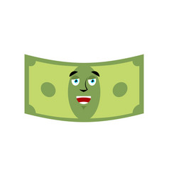 money happy emotion cash emoji cheerful dollar vector image vector image