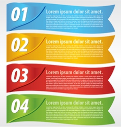 Paper banner with numbered vector image