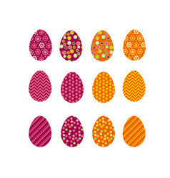 set of color easter eggs traditional symbol of vector image vector image