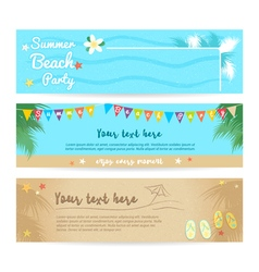 Set of summer beach and sea banner background vector image