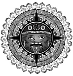 sun of Indians of Aztecs vector image
