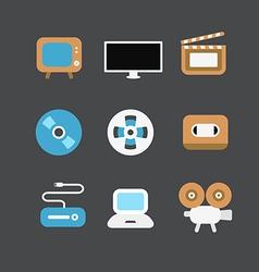 Cinematograph icons vector