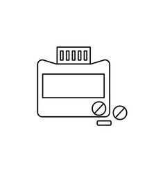 medicine tube tablets icon vector image