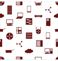 Network icons white simple seamless pattern vector