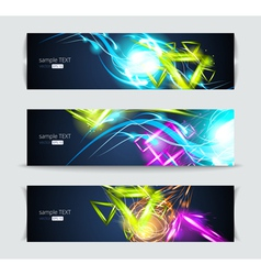 Set of banners and abstract headers vector image