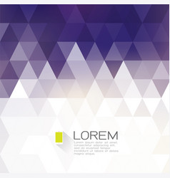 abstract fade triangle with white space for text vector image vector image