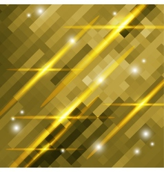 abstract gold background of squares vector image vector image