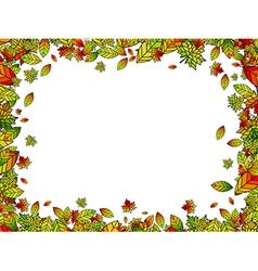 Autumn Bright Leaf Border vector image