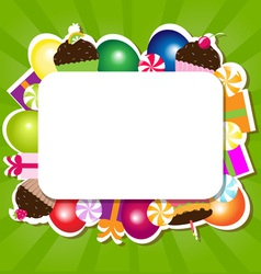 Confectionery Frame vector image