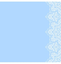 decorative border with white lace from snowflakes vector image
