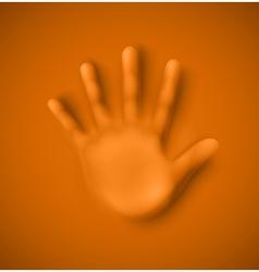 Human palm vector image vector image