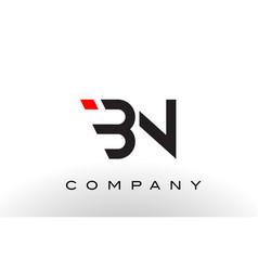 bn logo letter design vector image vector image