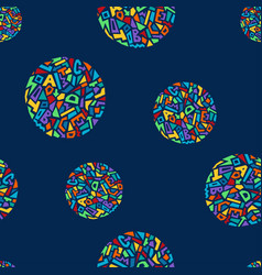 cute memphis style seamless geometric pattern with vector image vector image