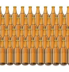 Glass beer brown bottle vector