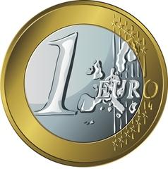 money gold coin euro vector image vector image