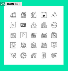 25 universal line signs symbols avatar user vector