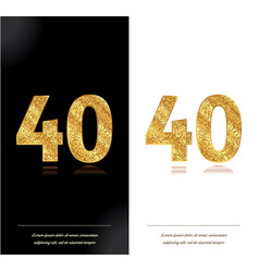40th anniversary card vector