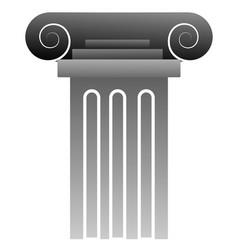 a grey greek pillar on white background vector image